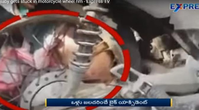 Video, Ngeri, Bayi Malang Terjepit di Jari-Jari Roda Sepeda Motor