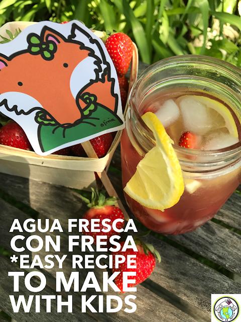 Agua Fresca con Fresa Receta Recipe