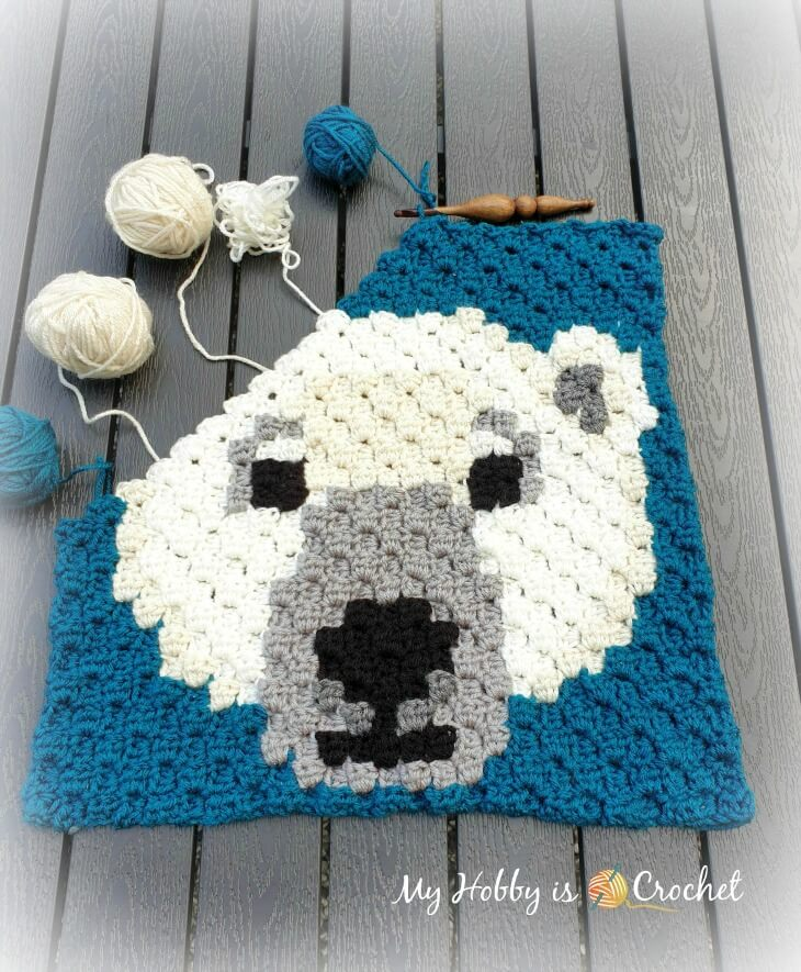 Polar Bear C2C Square - work in progress