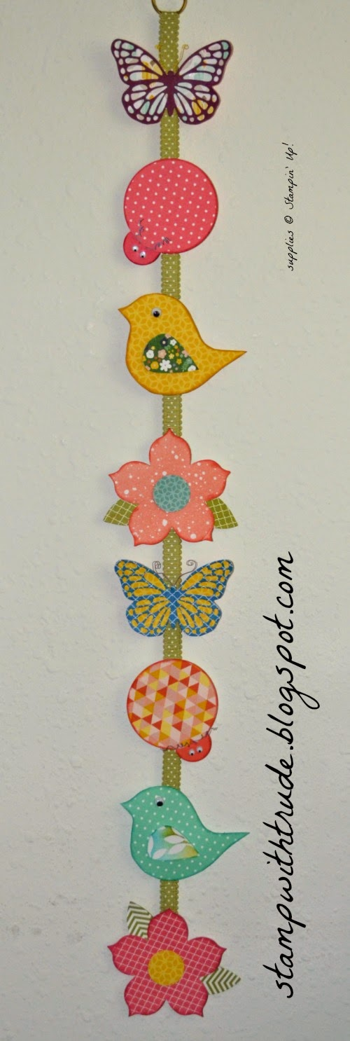 spring banner, stampin' up!, stampwithtrude.blogspot.com, floral, butterfly, Trude Thoman