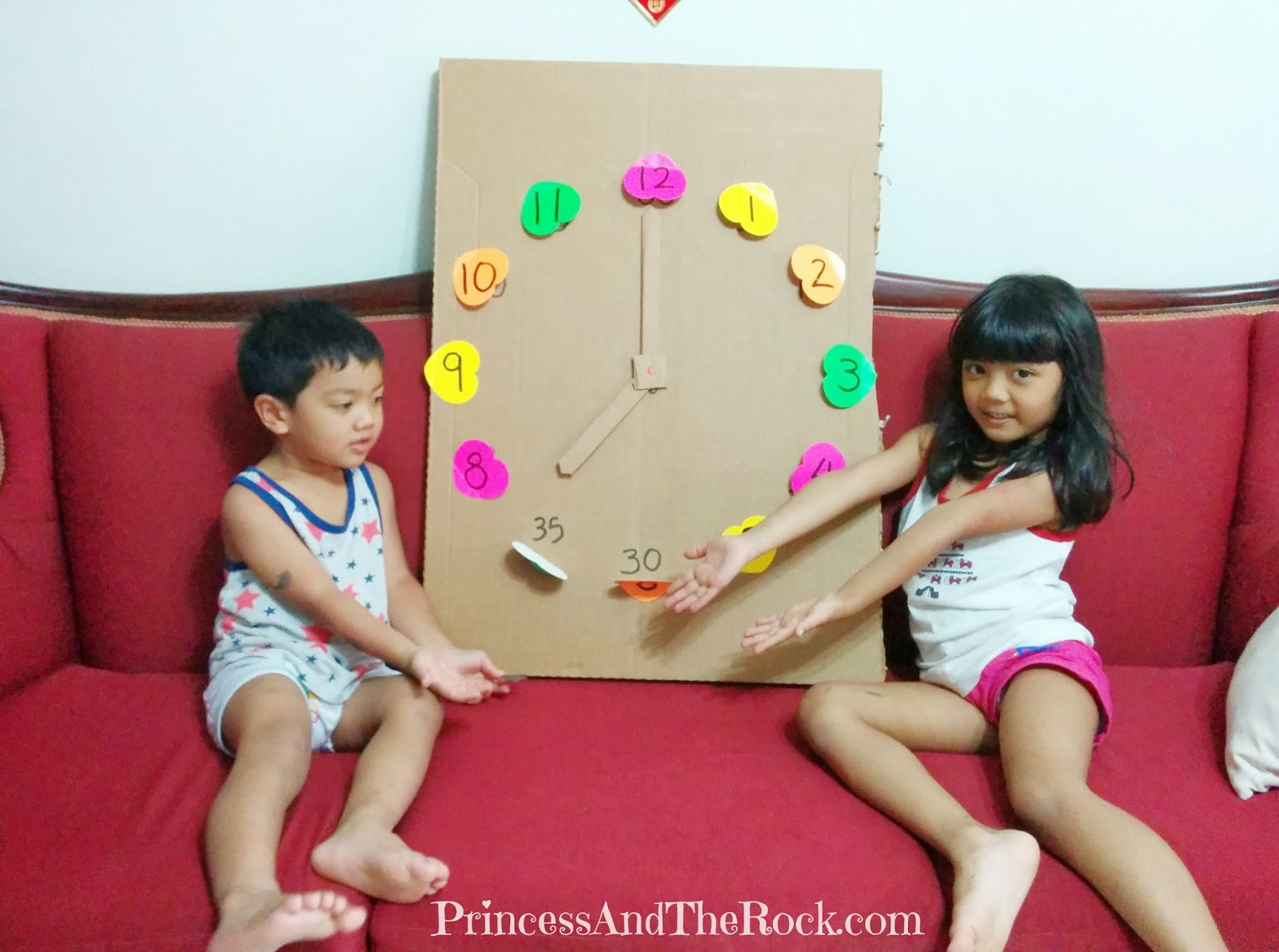 Princess And The Rock Telling Time With Diy Giant Clock
