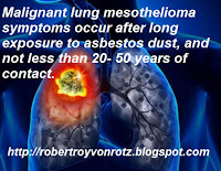Mesothelioma signs and symptoms
