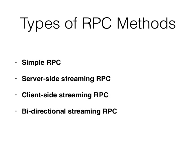 Code review guidelines for GRPC