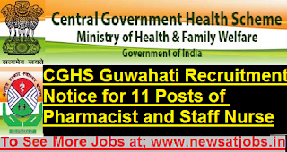 cghs-assam-staff-nurse-pharmasists-Recruitment