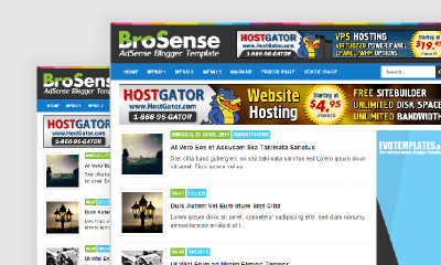 Top 10 Template Blog Responsif 9. BroSense Responsive Blogger Template