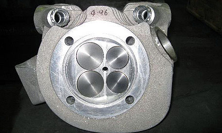 Irving Vincent Motorcycle 4 valve head