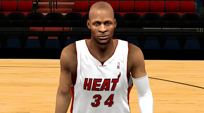 NBA 2K14 Ray Allen Next Gen Face Mod