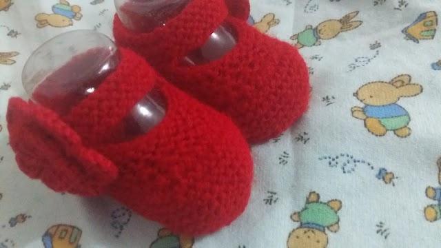Sapatilha Bebe Menina-Tricô