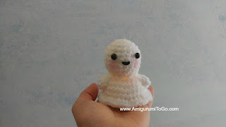 white crochet ghost pattern