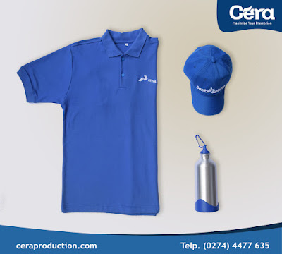 Souvenir Perusahaan - Topi, Kaos Polo dan Tumbler