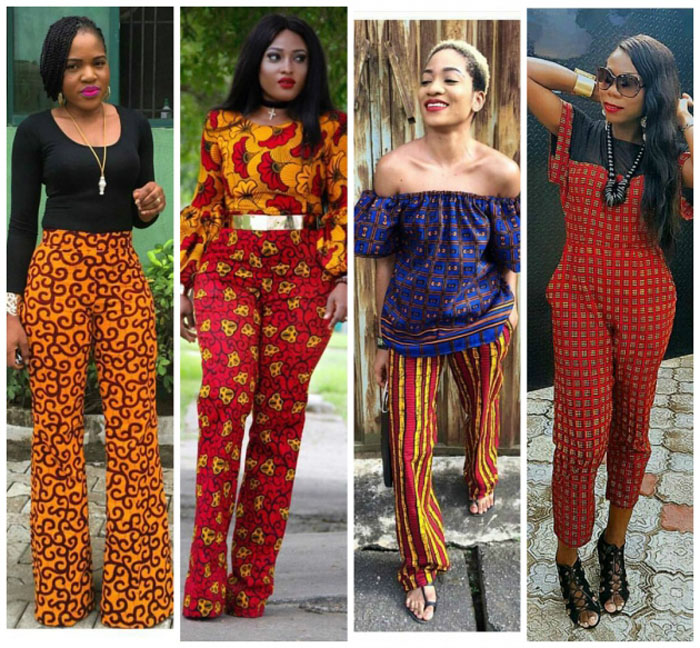 2017 Ankara High-Waist African Trousers=