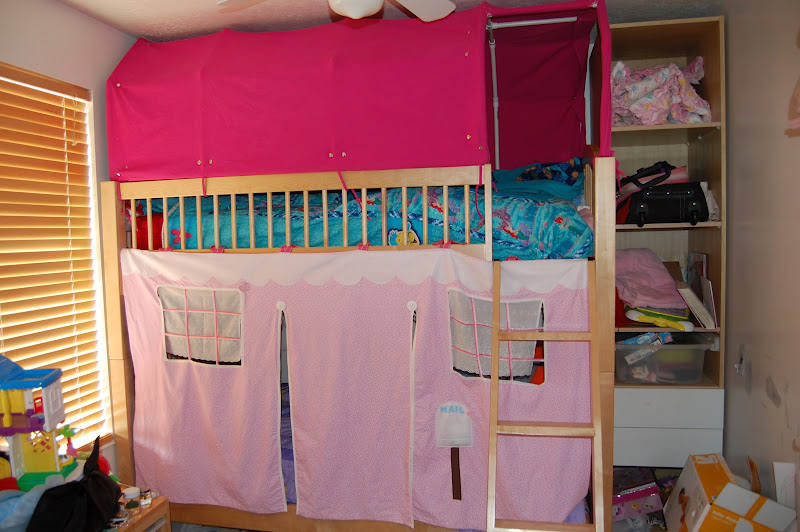 Pictures Of The Top Bunk Bed Tent And Paltry Instructions