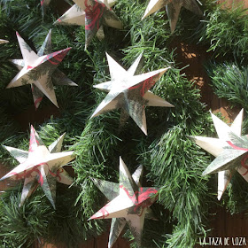 Estrellas-de-papel-para-adornos-navideños