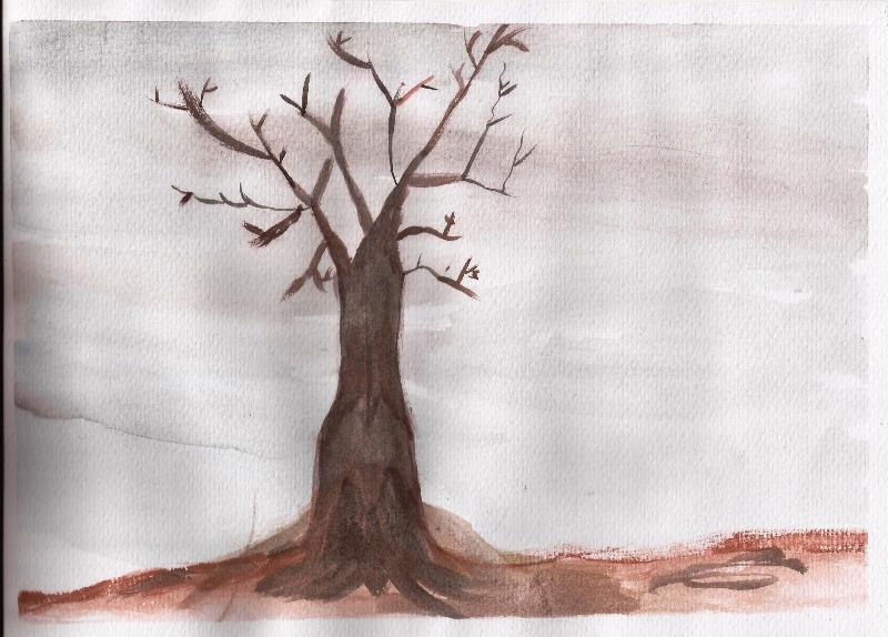 Studiamando liberamente acquerelli invernali paesaggio e for Foto di alberi da colorare