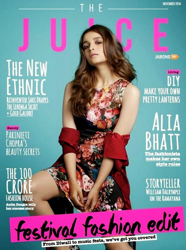 Alia Bhatt, Bollywood Actresses on Indian Magazines November 2014 Covers