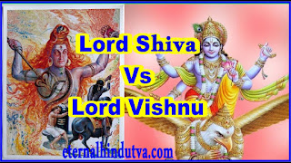 The fight of Lord Shiva and Lord Vishnu
