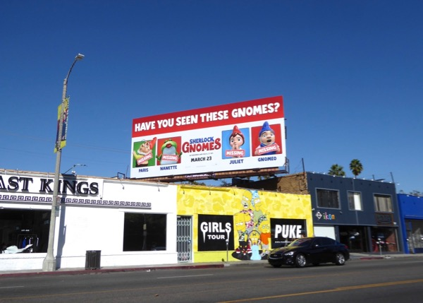 Sherlock Gnomes film billboard
