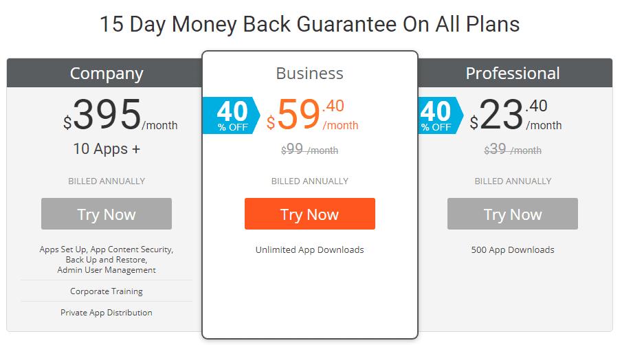 ibuildapps pricing plans for creating mobile app for blogspot blog