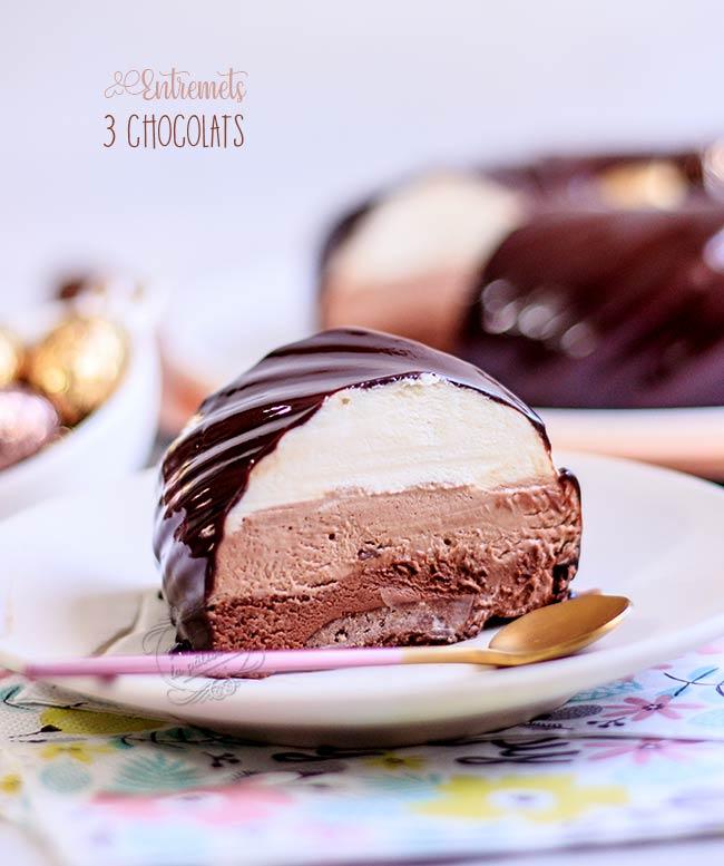 gateau trois chocolats