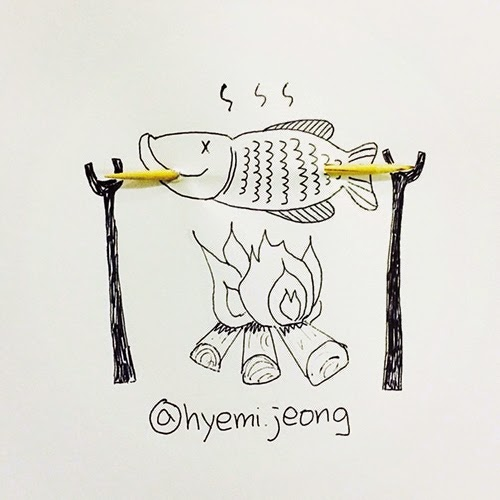 16-Roasting-Hyemi-Jeong-Everyday-Things-to-Draw-With-www-designstack-co