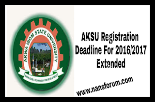 Image for AKSU Registration Deadline For 2016/2017 Extended
