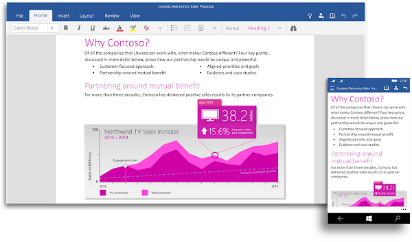 Microsoft Word Touch for Windows 10