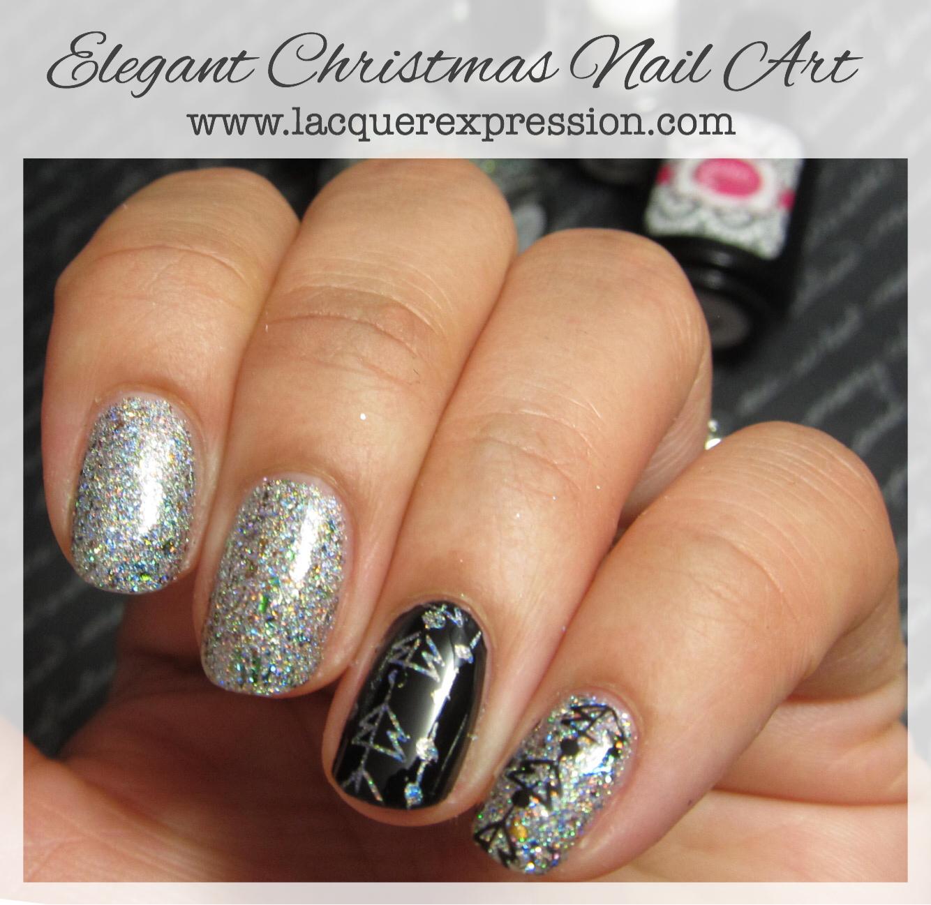 Elegant Christmas Nail Art: Step-by-Step Nail Art Friday