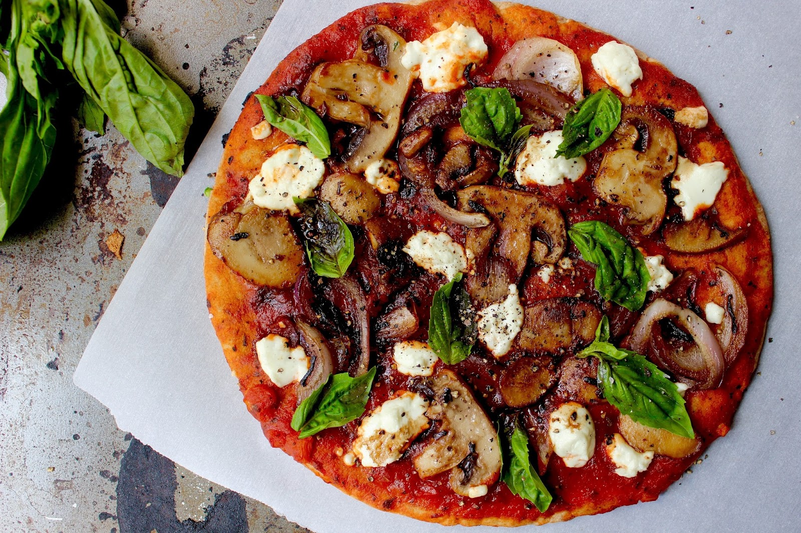 Caramelized Onion And Goat Cheese Pita Pizza: World Meat Free Day