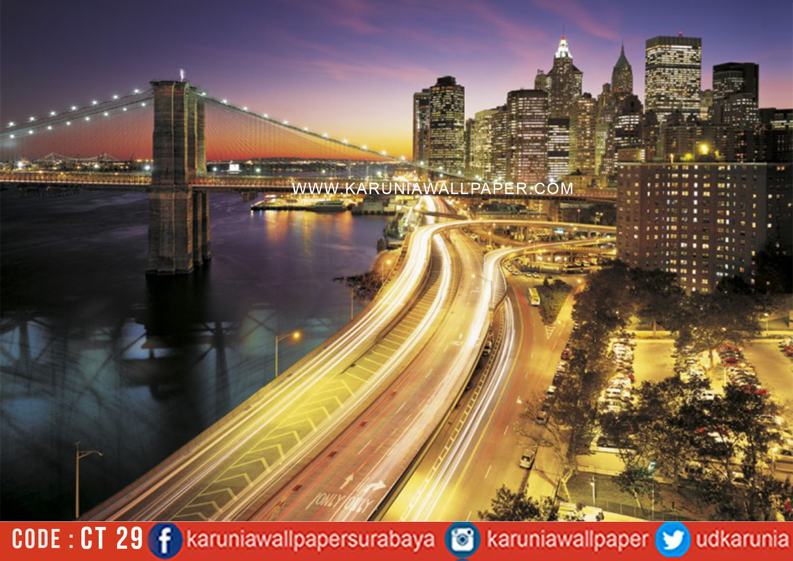 jual wallpaper new york fotowall dekorasi kafe