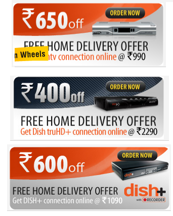 Dish TV Set Top Box Divided in Three Choice, Now Order with 3 Choice Receiver