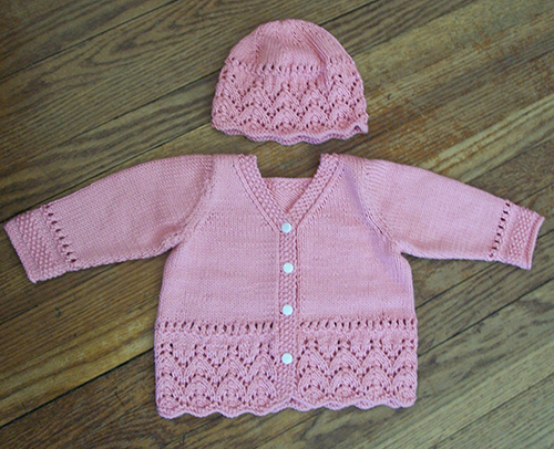 Daily Knitting Patterns: Lacy Baby Cardigan