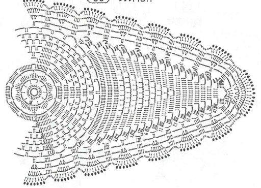 World crochet: Napkin 210