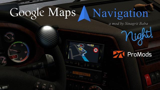 sinagrit baba ets 2 mods, ets 2 google maps navigation night version for promods