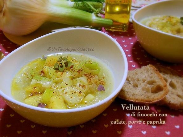 vellutata di finocchio con patate, porro e paprika