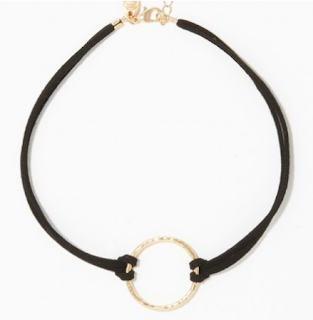 charming charlie hammered ring choker