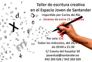 Taller de escritura creativa en el Espacio Joven de Santander