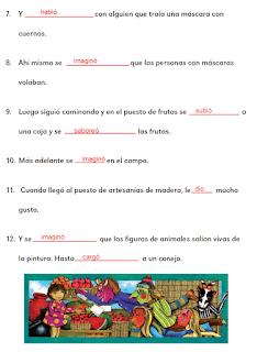Respuestas Apoyo Primaria Español 2do grado Bloque 1 lección 18 Día de tianguis