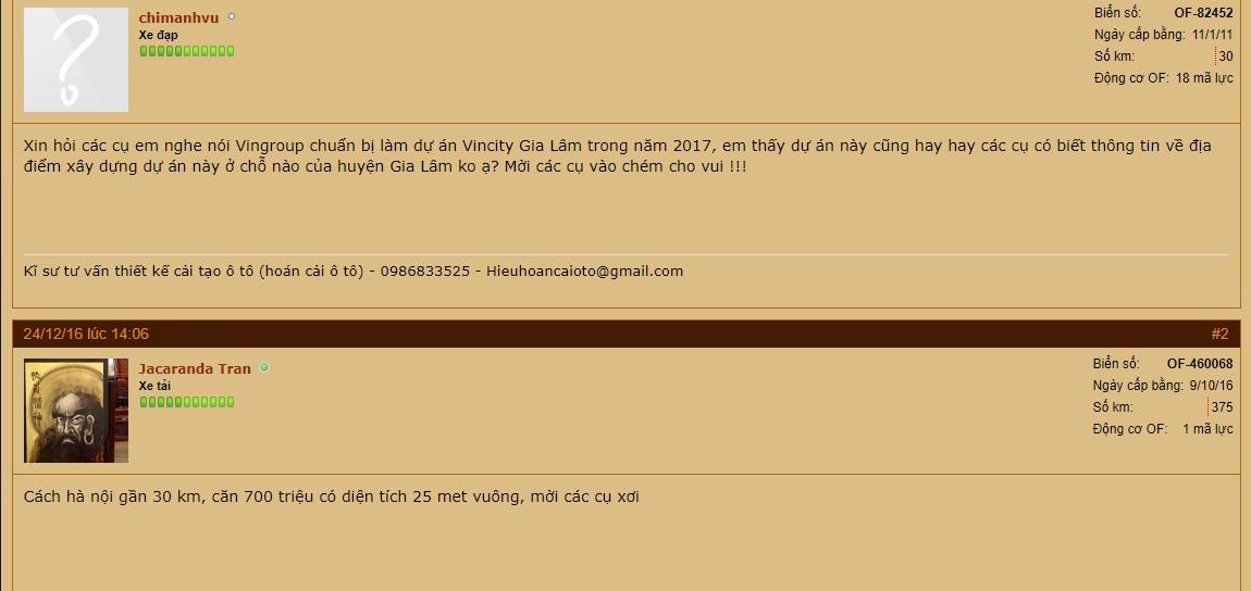 Review Vincity Gia Lâm Trên Otofun