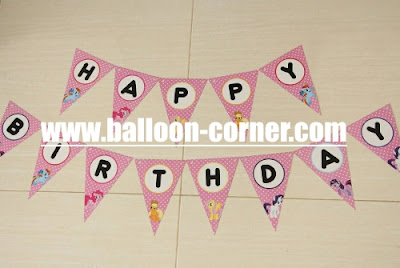 Bunting Flag HAPPY BIRTHDAY Motif Little Pony