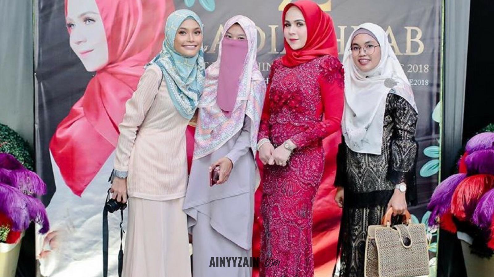 Ainyy Zain Majlis Pelancaran Koleksi Zadia Crystal Hijab Dari Ni Berjalan Lancar Dan Meriah Dengan Kadatangan Rakan Blogger Artis Keluarga Sendiri Ainy Pun Dapat Kenal Ramai