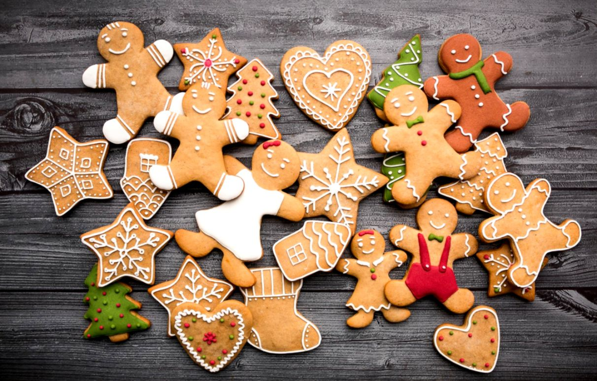 Christmas Cookies Wallpaper.Holiday New Year Christmas Cookies Stars Hd Wallpaper