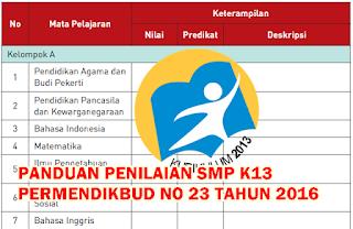 Panduan Penilaian SMP Kurikulum 2013 Revisi 2016