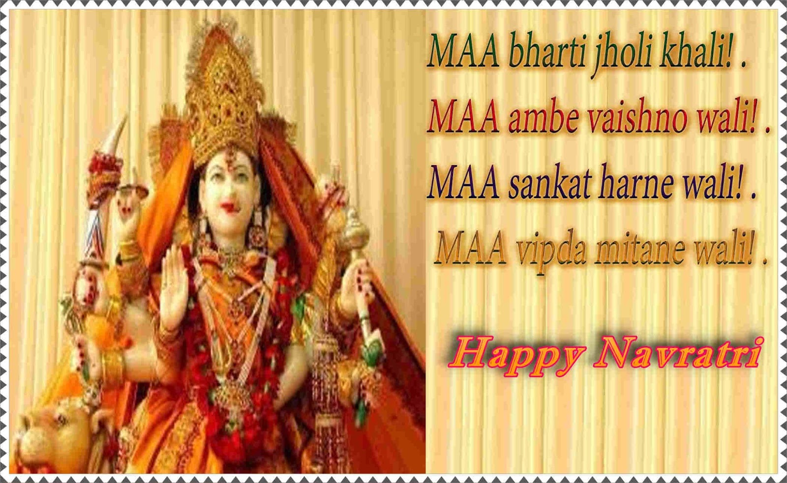 Happy navratri shayari navratri greeting navratri image greetings in hindi kristyandbryce Choice Image