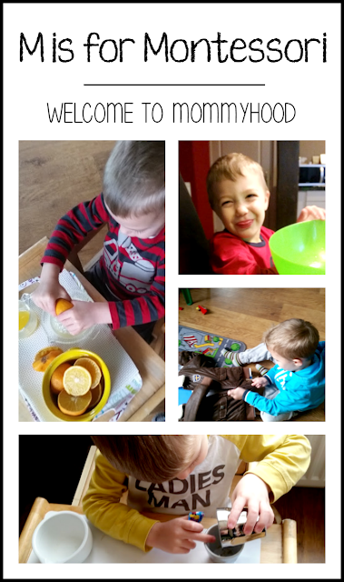 Tot Labs presents Letter of the Week:  M is for montessori: why we love montessori by Welcome to Mommyhood, #preschoolactivities, #montessoriactivities, #montessori, #handsonlearning, #letteroftheweek, #lotw, #freeprintables