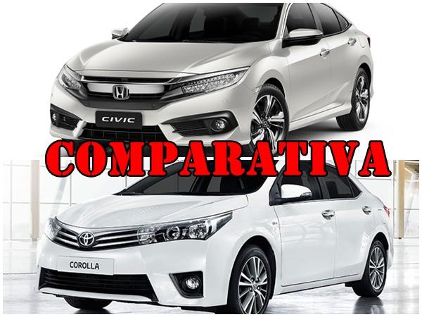 Comparativa Honda Civic EXL vs Toyota Corolla SE-G