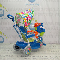 Royal RY8088CJ Mexico Elephant Rocker Baby Tricycle Canopy