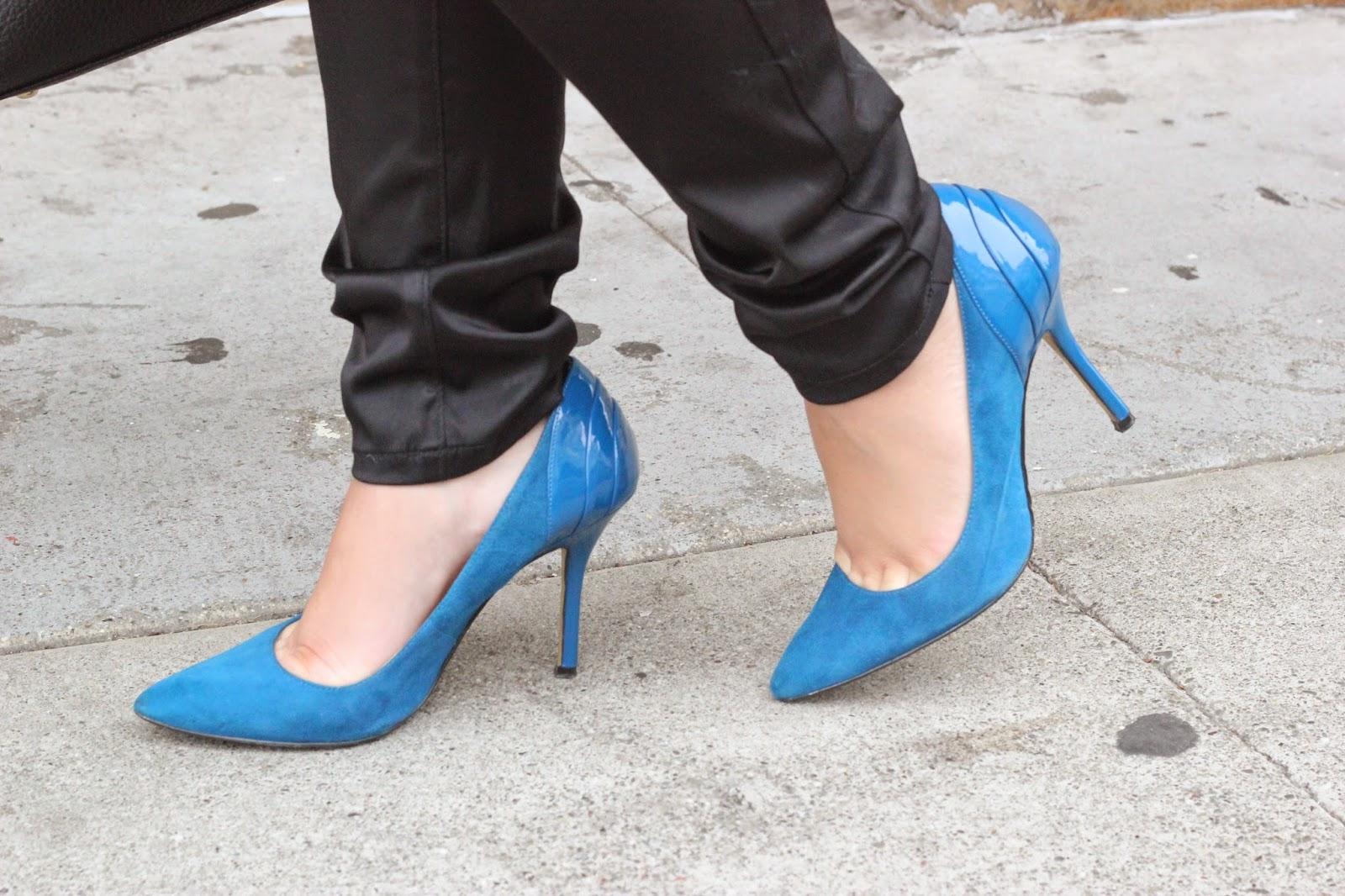 Blue Enzo Angiolini Heels