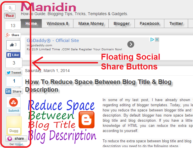 How To Add Simple Floating Social Media Share Buttons To