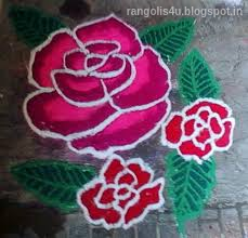 Red Rose Rangoli Collection