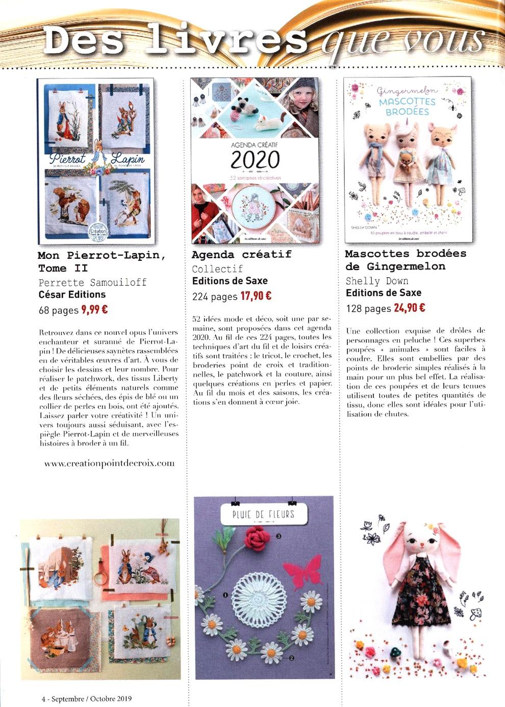 Журнал со схемами вышивки - Creation Point De Croix №78 2019 (4)